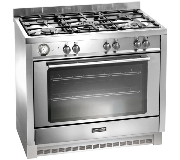 Baumatic Bcg905ss Gas Range Cooker Stainless Steel
