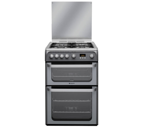 HOTPOINT HUG61G Full Gas Cooker - Graphite