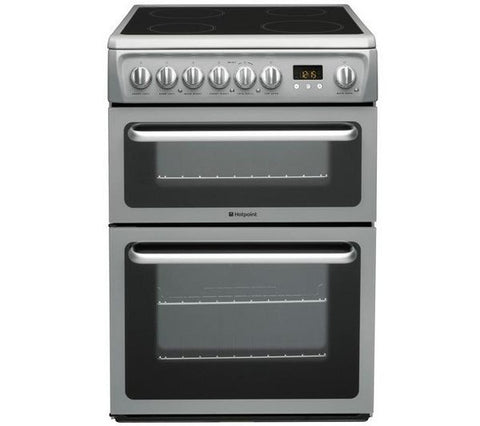 HOTPOINT DSC60SS Electric 60cm Freestanding Double Oven - Silver