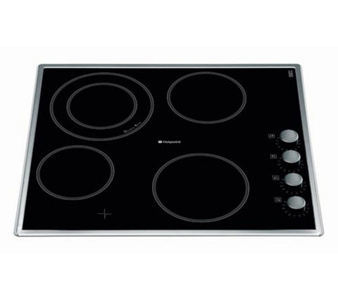 Hotpoint CRM641DX 60cm Ceramic Hob Stainless Steel