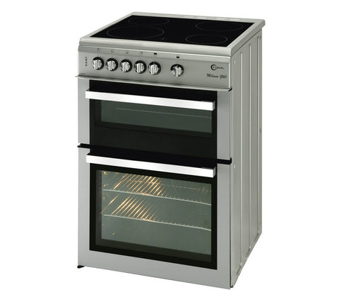 FLAVEL Milano ML61CDS 60cm Electric Ceramic Cooker - Silver & Chrome
