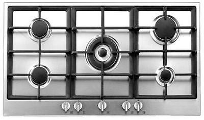 Baumatic BHG900.5SS 90Cm Stainless Steel Gas Hob