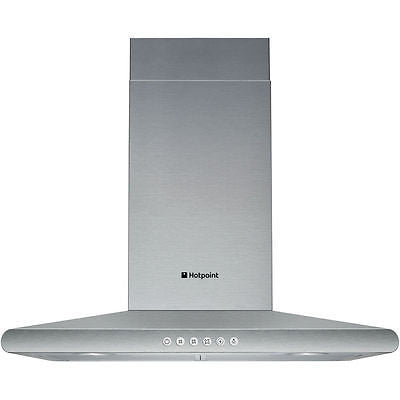Hotpoint  HHC7.7AB Chimney Hood in Modern Stainless Steel
