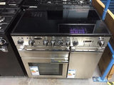 Rangemaster Professional + 90 Electric Range Cooker, Stainless Steel