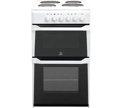 Indesit IT50EWS - 50cm Elec. Cooker with Main Oven, Separate Grill & 4 Zone Hob