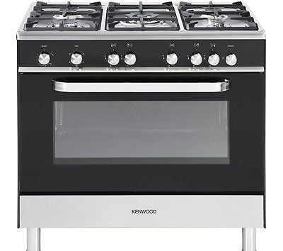 KENWOOD CK305G Full Gas Range Cooker Black 90cm LPG Convertible