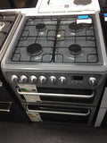 HOTPOINT DSD60S Dual Fuel Cooker - Silver