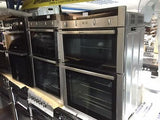 Neff U15M52N3GB Double Electric Oven, Stainless Steel