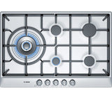 BOSCH PCS815B90E Gas Hob - Brushed Steel