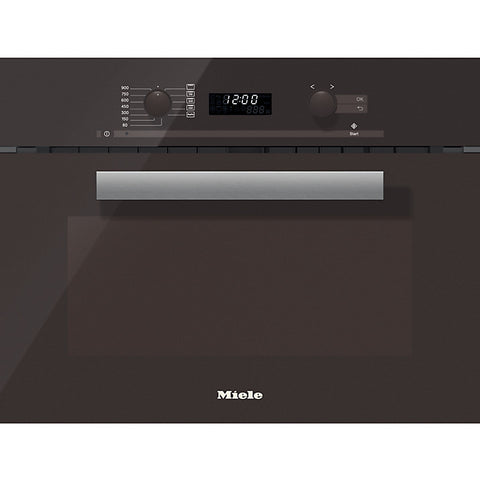 Miele M6262TC PureLine Built-in Microwave with Grill, Havana Brown