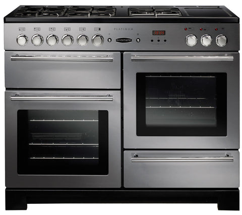 RANGEMASTER Platinum 110 Dual Fuel Range Cooker - Stainless Steel & Chrome