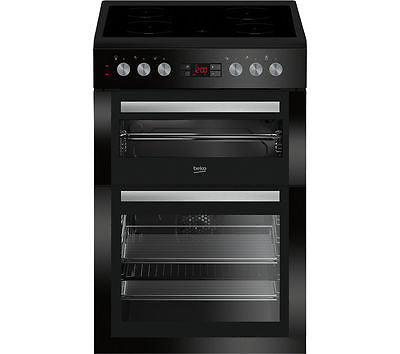 BEKO XDC6NT54K Double 60cm Electric Cooker - Black