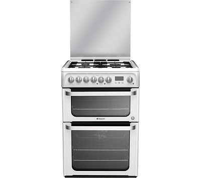 Hotpoint HUD61PS 60cm Dual Fuel Cooker - White