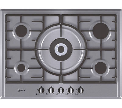 NEFF T25S56N0GB Gas Hob - Stainless Steel solidsa