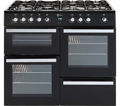 FLAVEL Milano 100 MLN10FRK Dual Fuel Range Cooker - Black & Chrome LPG Convertible