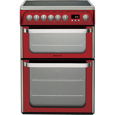 Hotpoint Ultima DUE61R 60cm Cooker - Red
