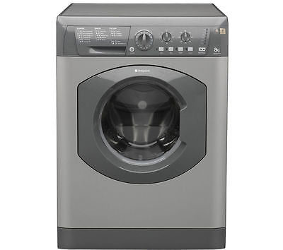 HOTPOINT HE8L493G 8KG Washing Machine - Graphite