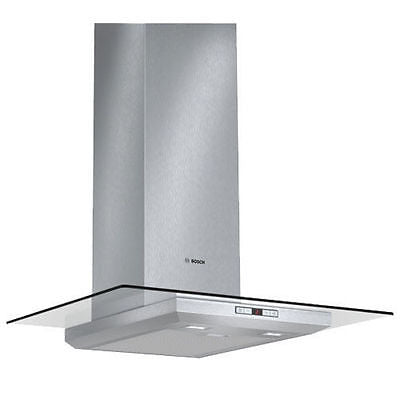 Bosch Serie | 6 Chimney Extractor Hood with Glass Canopy DWA078E50B Brushed Steel
