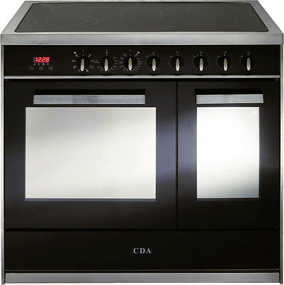 CDA RV961SS 90cm Twin Cavity Electric Range Cooker - Stainless Steel