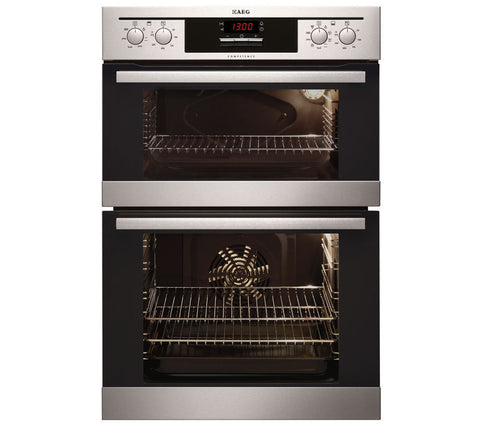 AEG DC4013021M Built In Electric Double Oven LED Display Stainless Steel