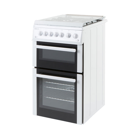 Beko BDG584W 50cm Twin Cavity Gas Cooker