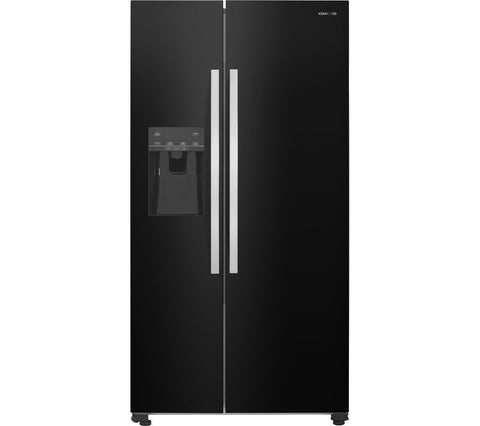 KENWOOD KSBSDIB17 American-Style Fridge Freezer - Black