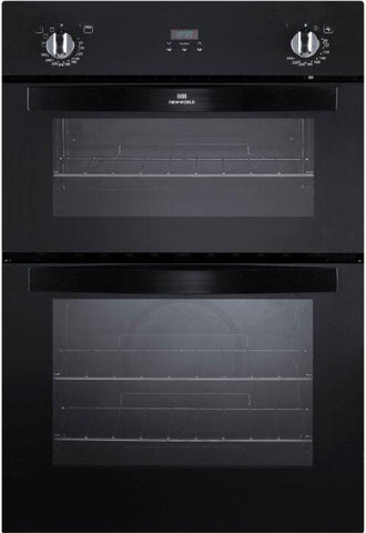 New World NW901DOP Double Built In Electric Oven - Black - 444442270