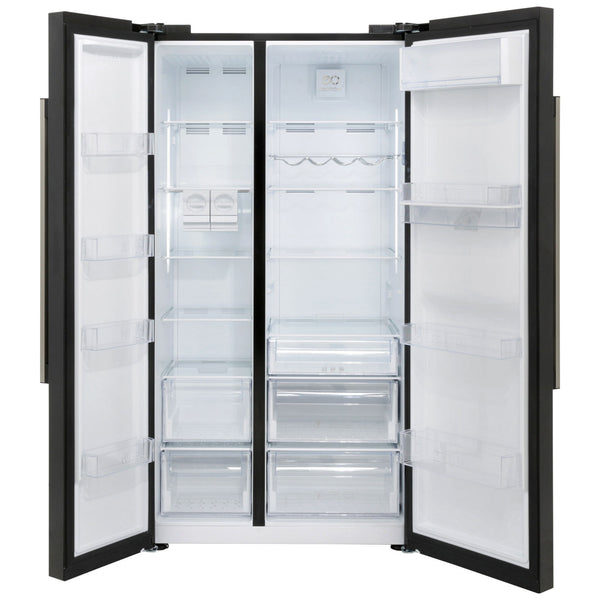 Beko Asd241b Black American Fridge Freezer Safeer