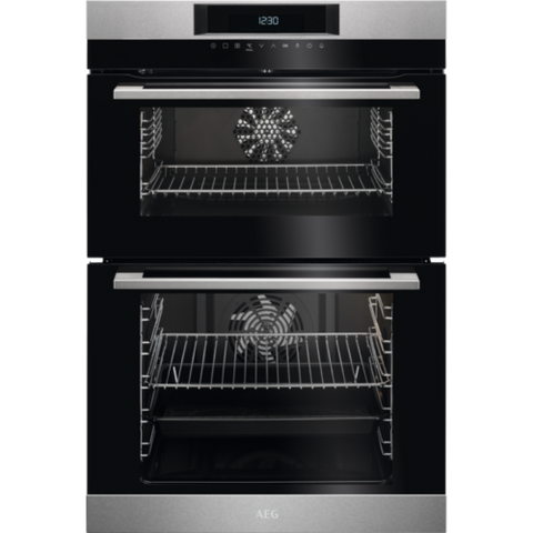 AEG DCK731110M A Rated Integrated Double Oven Stainless Steel