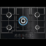 AEG HKB75540NB 75CM FLAMELIGHT 5 BURNER GAS ON AUTOMATIC IGNITION GLASS HOB