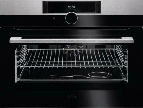 AEG KPK842220M Compact Pyrolytic Self Clean Oven In Stainless Steel