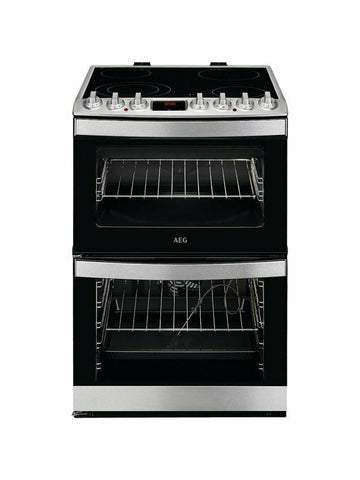 AEG CCB6760ACM Freestanding Electric Cooker A Energy Rating Stainless Steel 60cm
