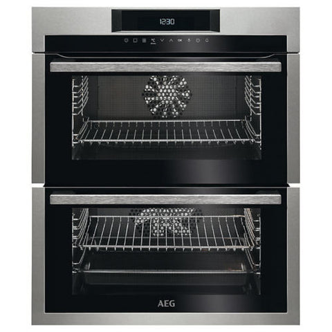 AEG DUE731110M A/A Rated Built-Under Double Electric Oven in Stainless Steel