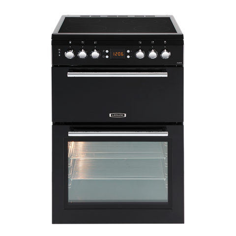 Leisure AL60CRK Black 60cm Double Oven Electric Cooker