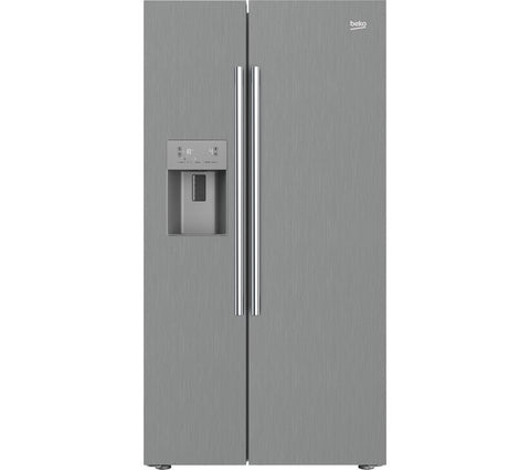 BEKO ASPM341PX American Style Fridge Freezer - Brushed Steel