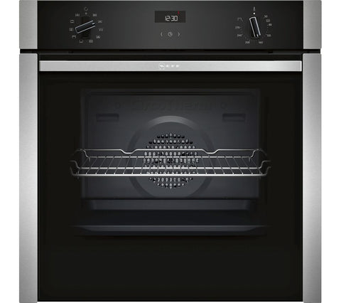 NEFF B3ACE4HN0B Slide&Hide Electric Oven - Stainless Steel