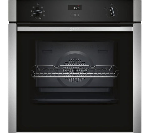 NEFF B4ACF1AN0B - 60cm 'Slide&Hide' Single Electric Oven - Stainless Steel