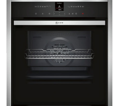 NEFF B57VR22N0B - 60cm Slide&Hide Electric Oven - Stainless Steel