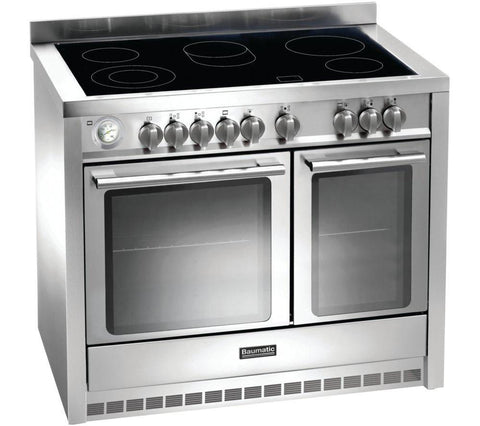 BAUMATIC BCE1025SS 100cm Electric Ceramic Range Cooker - Stainless Steel