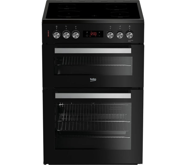 Fuel Induction Service >> BEKO XDC653K - 60cm Electric Ceramic Cooker - Black & Silver – Safeer Appliances Ltd