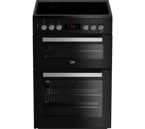 BEKO XDC653K - 60cm Electric Ceramic Cooker - Black & Silver