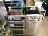 BELLING Gourmet 90Ei Professional Electric Induction Range Cooker Stainless Stee