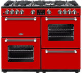 BELLING Kensington 100G Gas Range Cooker - Red & Chrome 100 cm 444444060