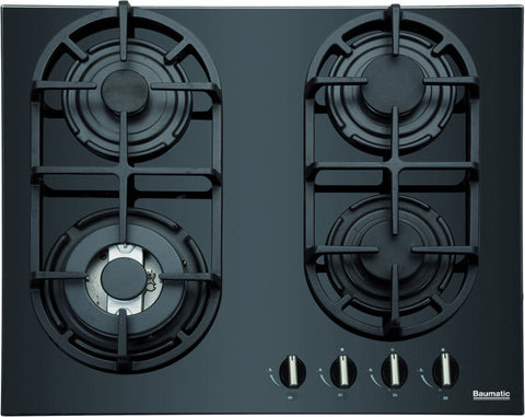 Baumatic BGG64 Built-In 60CM Gas Hob - Black