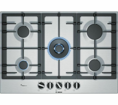 BOSCH PCQ7A5B90 Gas Hob - Stainless Steel LPG Convertible