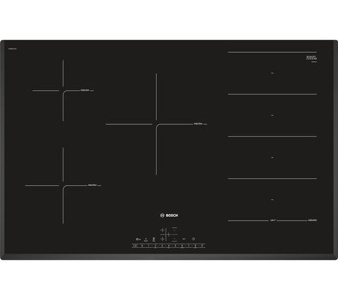 BOSCH PXV851FC1E 80cm Electric Induction Hob - Black