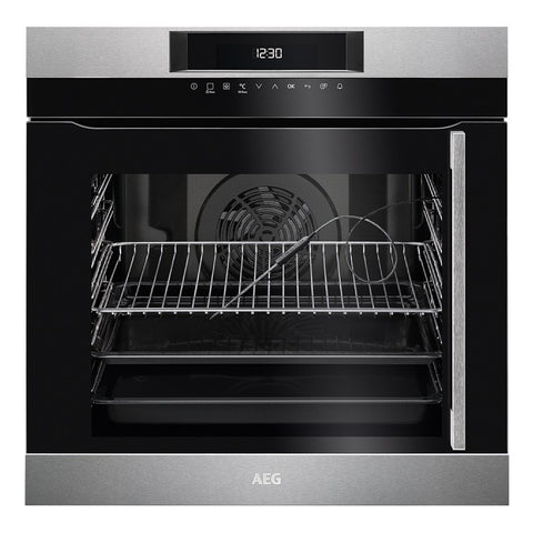 AEG BPK744L21M - 60cm Electric Single Oven Side Opening - Stainless Steel