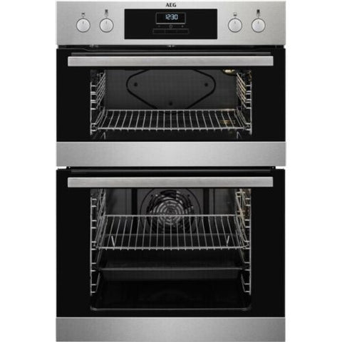 AEG DEB331010M Built In Electric Double Oven Stainless Steel A Rated