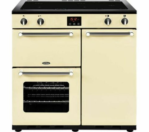 Belling Kensington 90EI INDUCTION Ceramic Range Cooker Cream 444444052 90cm