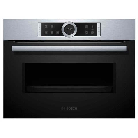 Bosch CFA634GS1B Serie 8 900 Watt Microwave Built In Brushed Steel